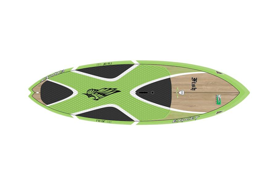 Fish 7'11 x 28'' Custom Bamboo Green
